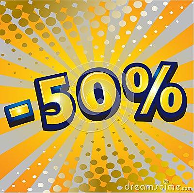 -50 percent discount