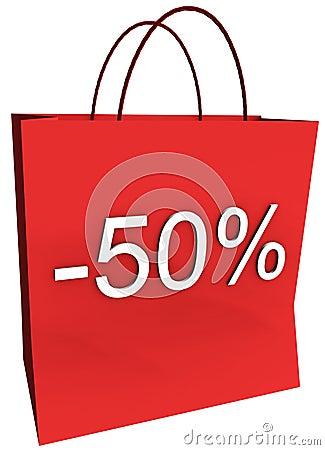 50 Percent Off Shopping Bag