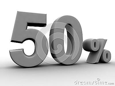 50 pour cent