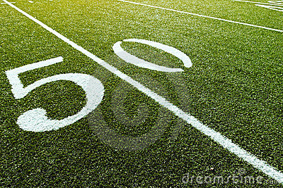 50 Yard Line on Football Field