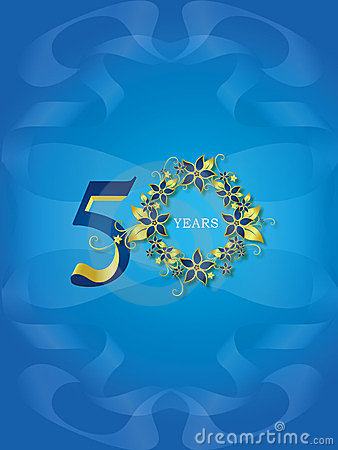 50 Years Golden Jubilee Royalty Free Stock Photo Image