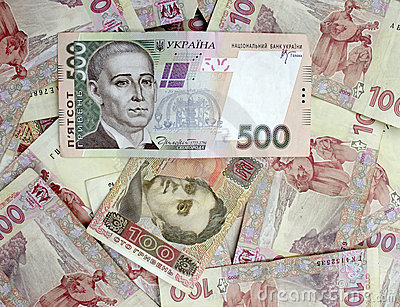 500 and 100 Ukrainian hryvnia