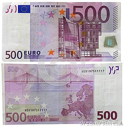 Free 500 Euro Stock Image - 4010681