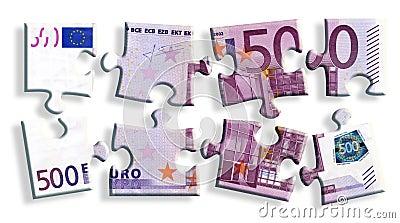 500 euro banknote puzzle