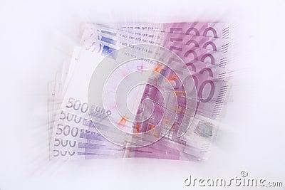 500 euro banknotes (vortex)