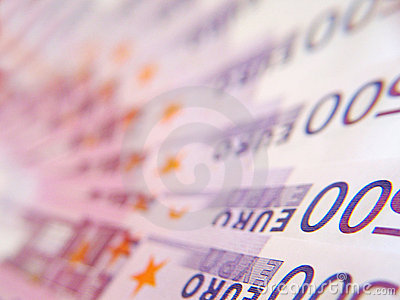 500 EURO bill Stock Photo