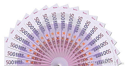 500 Euro Notes Half Circle Template