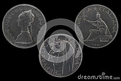 500 lire silver coins