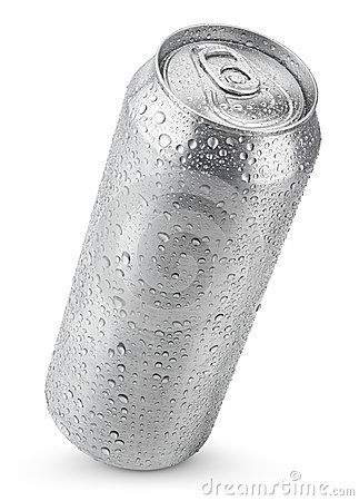 Free 500 Ml Aluminum Can With Water Drops Stock Photos - 41024403