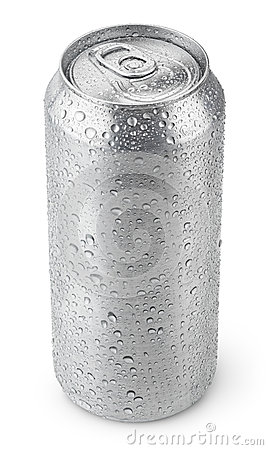 Free 500 Ml Aluminum Can With Water Drops Royalty Free Stock Photography - 43195757