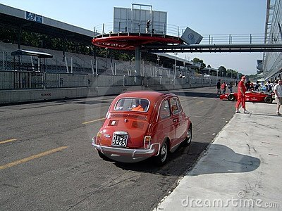 FIAT 500 in Monza Editorial Stock Photo