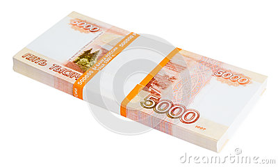 5000 Russian rubles batch