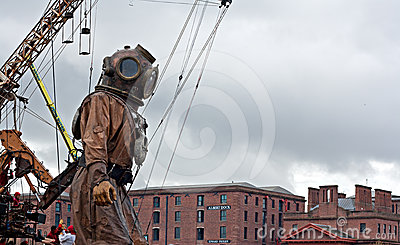 50ft giant diver. Editorial Photography