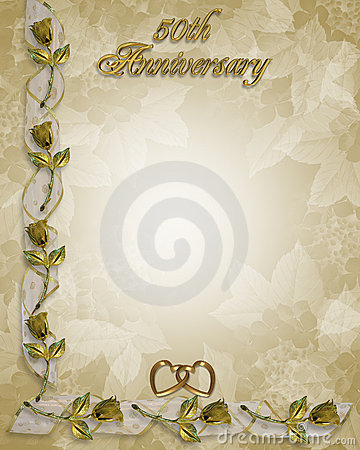 Free 50th Anniversary Border Roses Royalty Free Stock Photos - 7163278