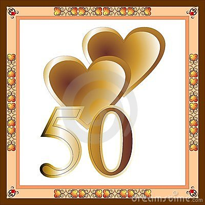 50th Anniversary Card Stock Photo Image 7771360