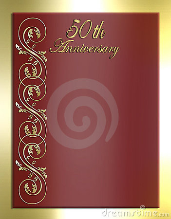 50th Anniversary Card or Invitation