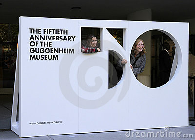 50th Anniversary of Guggenheim Museum Editorial Stock Image