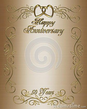 Free 50th Anniversary Invitation Border Royalty Free Stock Photos - 5615538