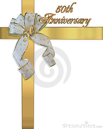 50Th Anniversary invitation card