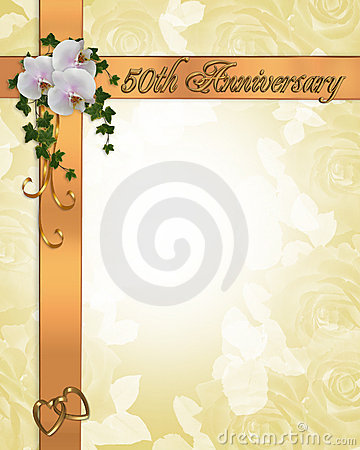 50Th Anniversary invitation orchids