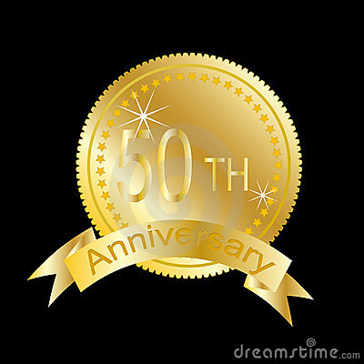 50th Anniversary Of Marriage Or Business Stock Images