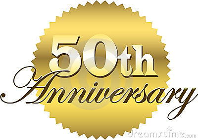 50th anniversary design stock photography image 26274592