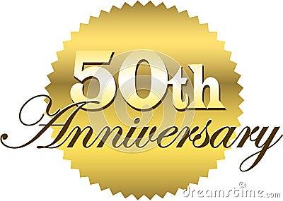 50th Anniversary Seal/eps