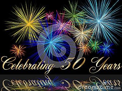 50th celebrating anniversary