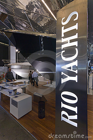 50th edition of the Boats show in Genoa Editorial Stock Photo