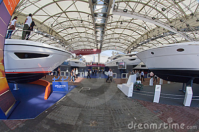 50th edition of the Boats show in Genoa Editorial Stock Image