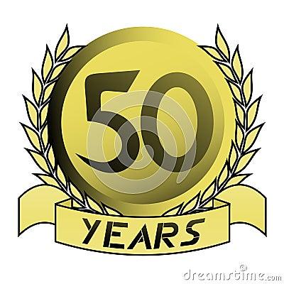 50th gold emblem