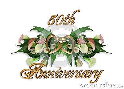 50th Lírios de Calla do aniversário