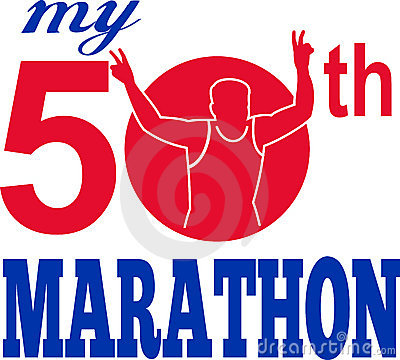 50th marathon run runner race