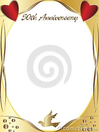 50th Wedding Anniversary Royalty Free Stock Photography Cartoondealer Com 19052435
