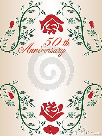 50th wedding anniversary border