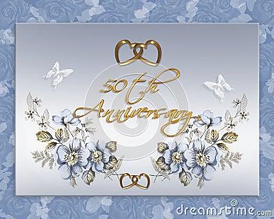 50th wedding anniversary card