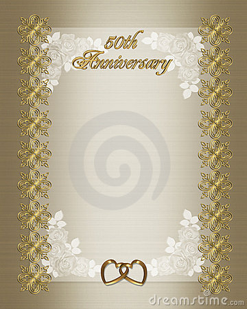 50th Wedding Anniversary Invitation Template Royalty Free Stock Image ...