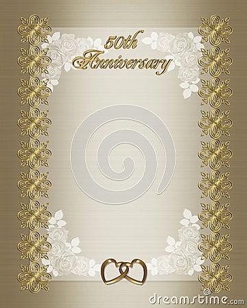 50th Wedding Anniversary Invitation Template Royalty Free Stock Image ...