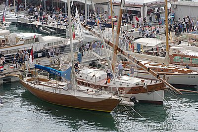 52th boatshow Genoa Editorial Stock Photo