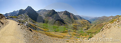 53 Mpx mountain panorama, col du Tourmalet