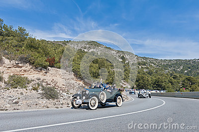 54th Rally Barcelona-Sitges second phase race. Editorial Stock Photo