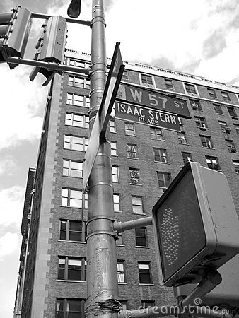 Free 57th Street Corner, Isaac Stern Place Nyc Royalty Free Stock Images - 612549