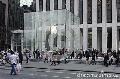 5th Avenue Apple Store In Manhattan Editorial Photo