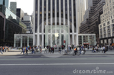 5th Avenue Apple Store In Manhattan Editorial Photography