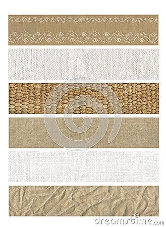 自然6副横幅的织品