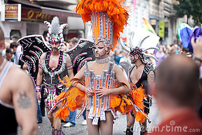 6 August, Christopher street day, Hamburg, gay par Editorial Stock Photo