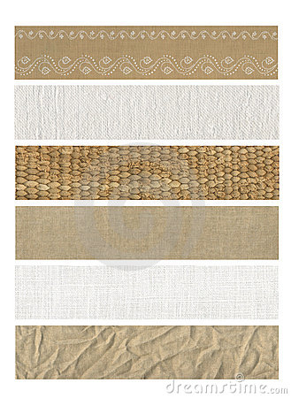 Free 6 Banners Natural Fabric Stock Images - 14015734