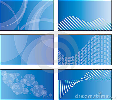 6 blue business card template designs