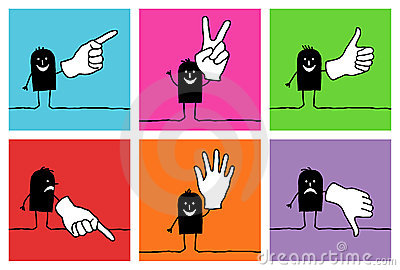 6 characters - hand signs