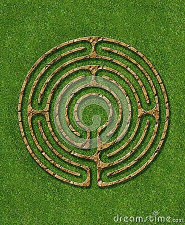 Free 6 Circuit Labyrinth Stock Photography - 3219152